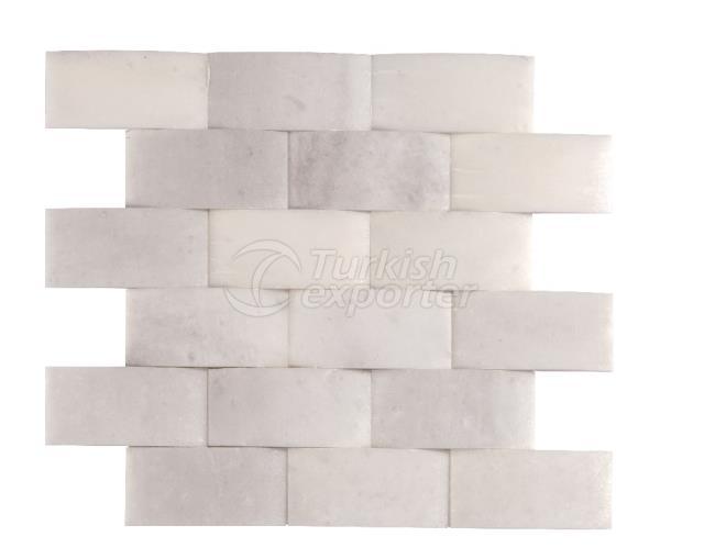 4,8x10 Kemalpasa White Braid Mosaic