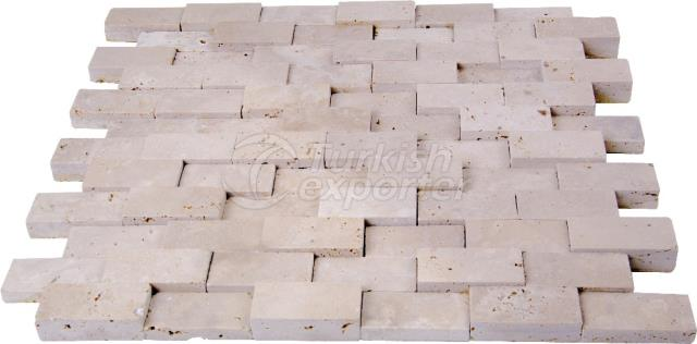 2,3x4,8 Cubic Brick Light Travertine