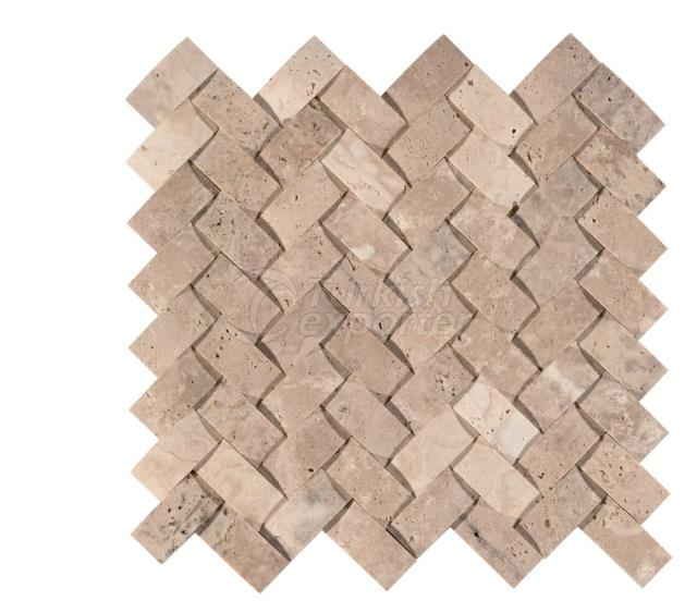 Herringbone Braid Mosaic 2,3x4,8 Scabos