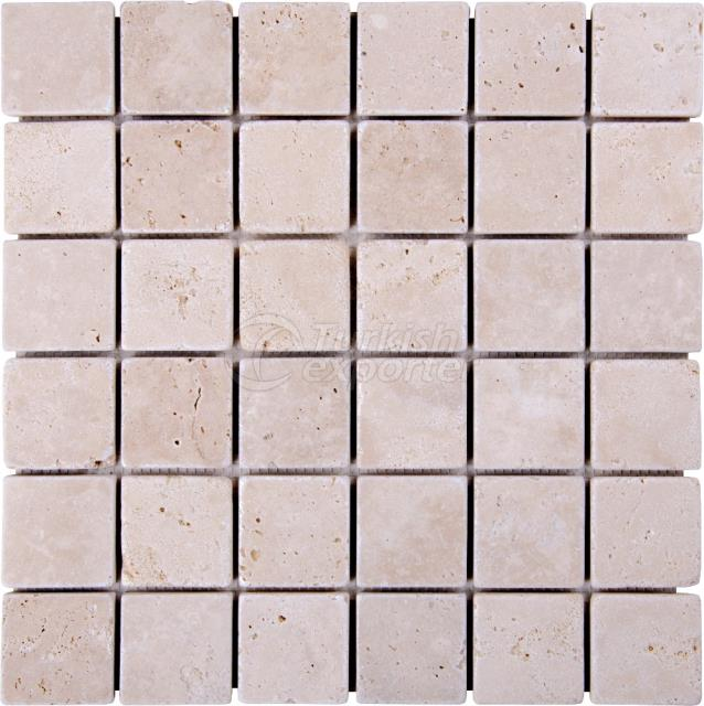 4,8x4,8 Mosaic Light Travertine