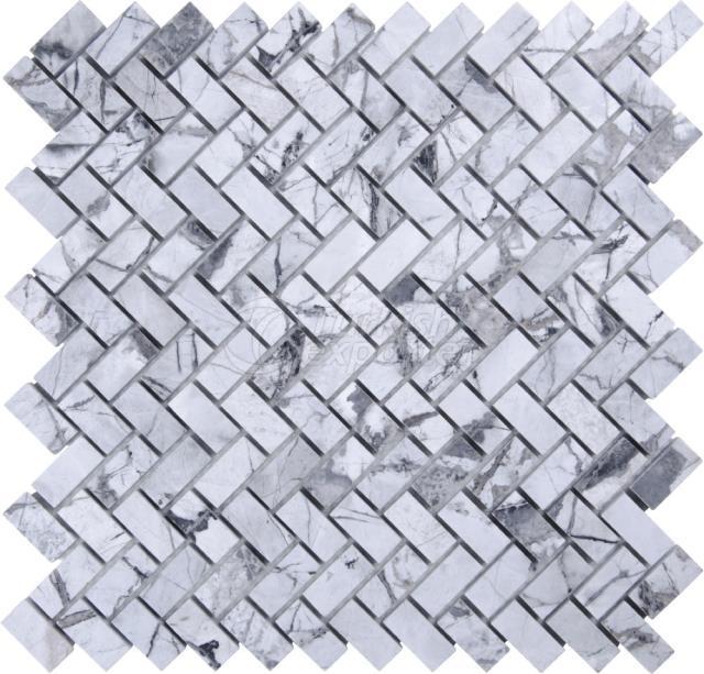 Herringbone Mosaic 1,5x3,2 Iceberg
