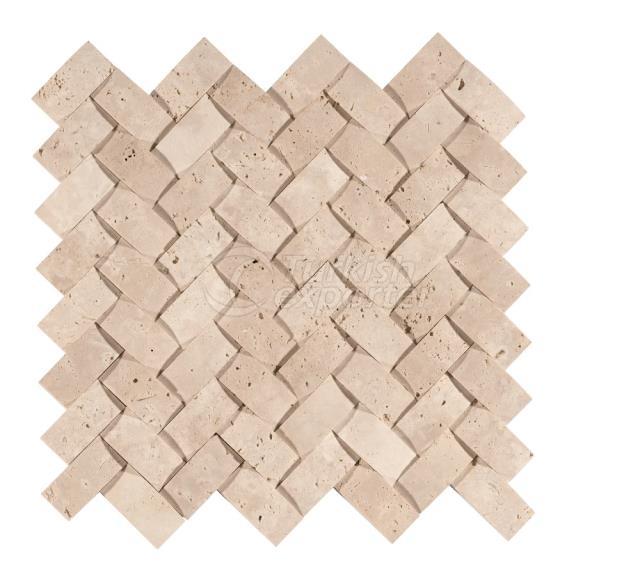 Herringbone Braid Mosaic 2,3x4,8 Travertine