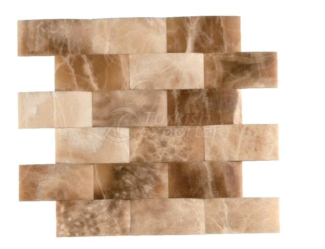 4,8x10 Cream Caramel Onyx Braid Mosaic