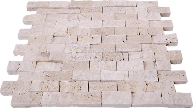 Split Face Light Travertine 2,3x4,8 cm