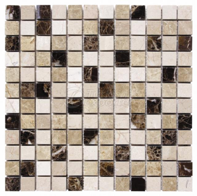 2,3x2,3 Emperador Dark Light Beige