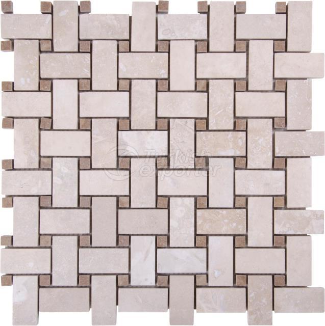 Basketweave Mosaic Bottocino Emperador