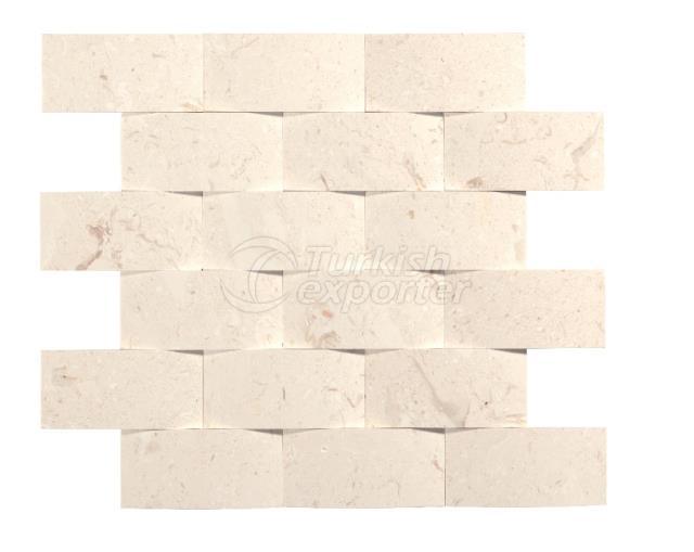 4,8x10 Pearl Beige Braid Mosaic