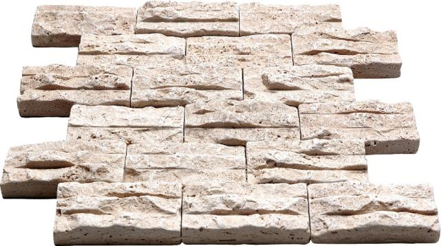 Rock Mosaic 4,8x10 Light Travertine