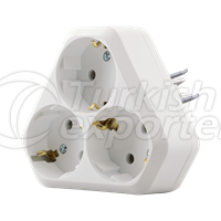 Sockets  -Goliath Triangle Type Triple Schuko Outlet