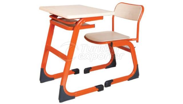 School Desk Single Demounted