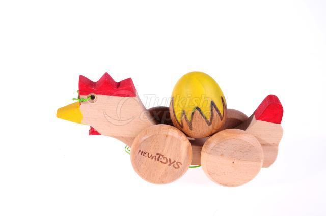 Push Along Toys Hen