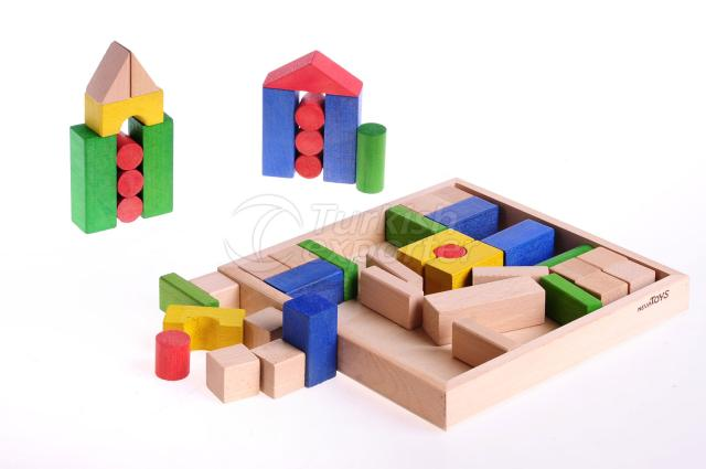 Colourful Blocks 47 Pieces
