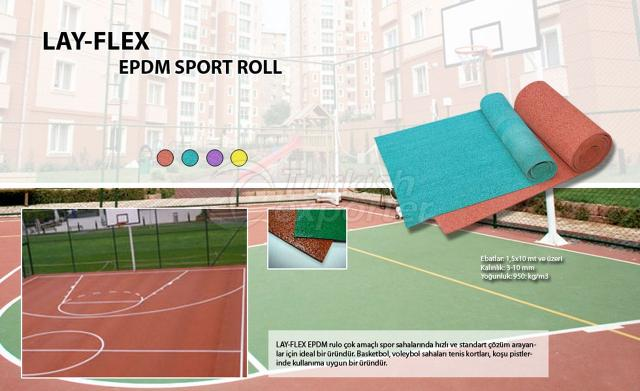 Epdm Sport Center Roll Lay Flex