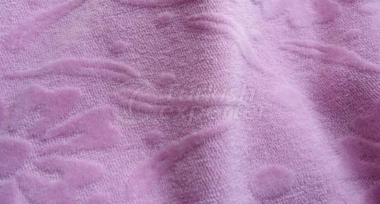 Jacquard Knitted Velour Fabric