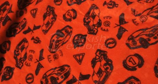 Printed Woven Velour Fabric