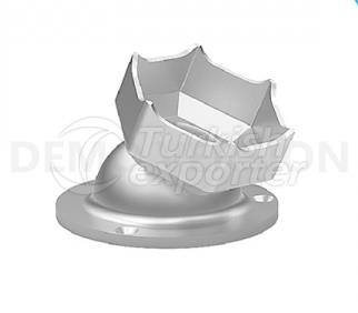 Adjustable Wall Flange for Upper Handrails KMS 305