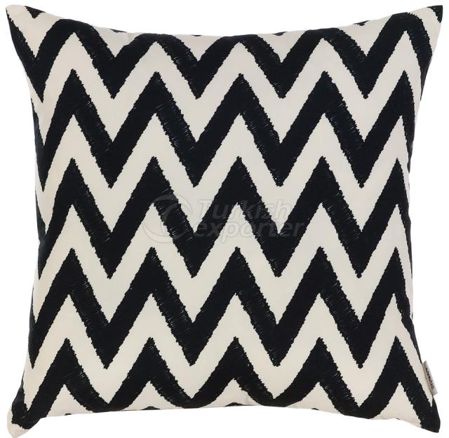 Black and white zig zag pillowcase