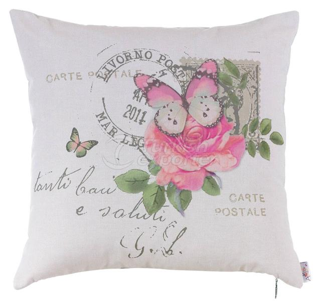 Pink rose and butterfly pillowcase