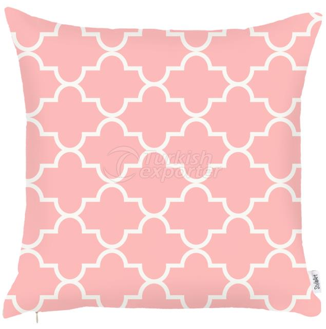 Light pink and white pillowcase
