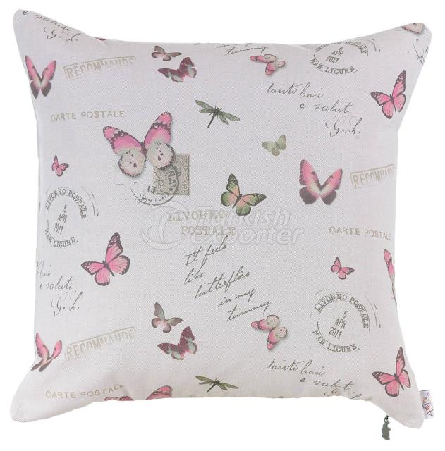 Many pink butterfly pillowcase
