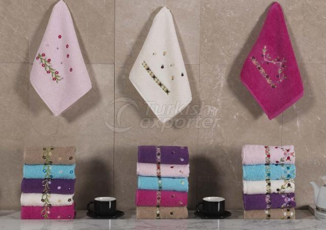 Honeycomb Embroidered Towel