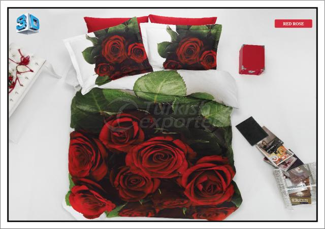Bed Linen Red Rose