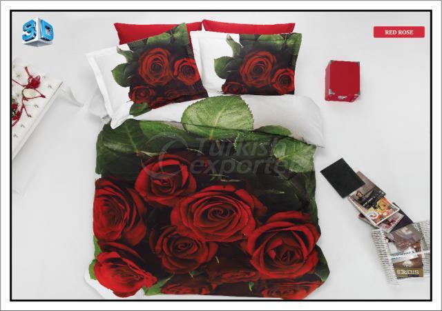 Bed Linen Red Rose