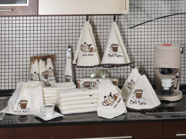 Kitchen Towel Coffee Embroidered