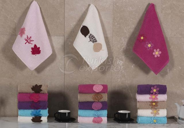 Applique Embroidered Towel