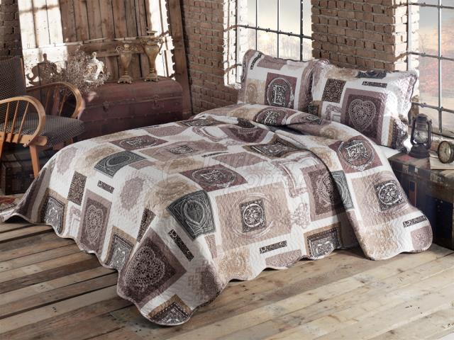 %65 Cotton - Quilted Bedspread Set