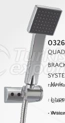 Quadra Wall Bracket Shower System