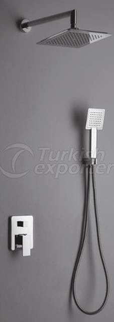 Simplex Square Flush Shower System
