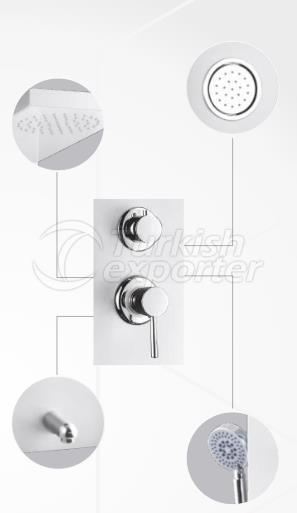Complex Round Hydromassage System Grey